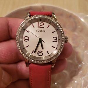 Fossil Rhinestone Red Watch
